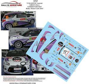 【送料無料】模型車 スポーツカー デカールシトロエンモンテカルロラリーラリーdecals 124 ref 1717 citroen ds3 r3 vukasovic rallye monte carlo 2013 rally wrc