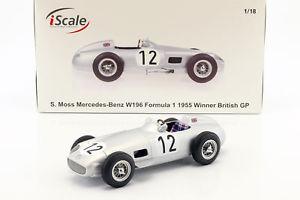 【送料無料】模型車 スポーツカー スターリングモスメルセデスベンツ#イギリスフォーミュラstirling moss mercedesbenz w196 12 winner british gp formula 1 1955 118 iscale
