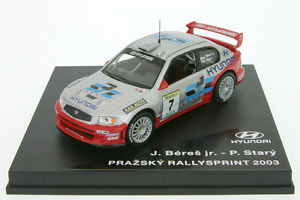 【送料無料】模型車 スポーツカー ヒュンダイアクセントラリープラハ143 cz43200305 hyundai accent wrc beres rally prague