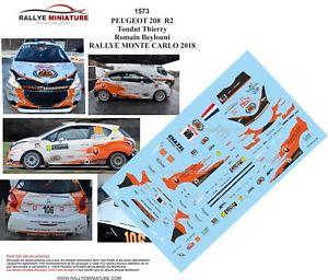 【送料無料】模型車 スポーツカー デカールプジョーモンテカルロラリーdecals 124 ref 1573 peugeot 208 r2 tondut 2018 monte carlo rally wrc