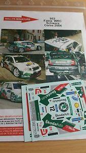 【送料無料】模型車 スポーツカー デカールシュコダファビアツールドコルスラリーラリーdecals 124 ref 953 schwarz skoda fabia wrc tour de corse 2004 rally rally