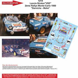 【送料無料】模型車 スポーツカー デカールランチアモンテカルロラリーdecals 124 ref 1214 darniche lancia stratos rallye monte carlo wrc 1980