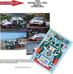 【送料無料】模型車 スポーツカー デカールシュコダファビアアレクサンダーツールドコルスラリーdecals 124 ref 1048 skoda fabia wrc bengue alexandre tour de corse 2005 rally