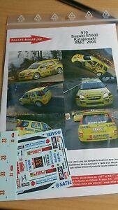 【送料無料】模型車 スポーツカー デカールスズキモンテカルロラリーラリーdecals 124 ref 910 suzuki ignis s1600 katajamaki rallye monte carlo 2005 rally