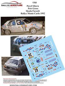 【送料無料】模型車 スポーツカー デカールシュコダラリーモンテカルロラリーdecals 124 ref 1701 skoda favorit sibera rally monte carlo 1992 rally wrc