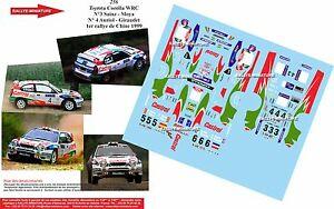 【送料無料】模型車 スポーツカー デカールトヨタカローラオリオールラリーラリーdecals 124 ref 256 toyota corolla wrc didier auriol rallye rally china 1999
