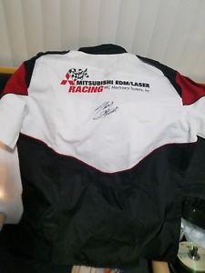 【送料無料】模型車 スポーツカー トニースチュワートサインピットシャツtony stewart signed autographed pit shirt