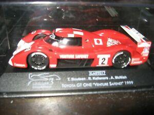 【送料無料】模型車 スポーツカー 1999le mans toyota gtオン2 venture safenet143scale diecast replica model1999 le mans toyota gt one 2 venture safenet 143 sca