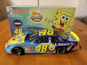 【送料無料】模型車 スポーツカー ジミージョンソン#スポンジボブスクエアパンツムービー2004 jimmie johnson 48 lowes sponge bob squarepants movie 124