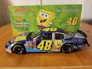 【送料無料】模型車 スポーツカー ジミージョンソン#スポンジボブスクエアパンツ2003 jimmie johnson 48 lowes sponge bob squarepants 124