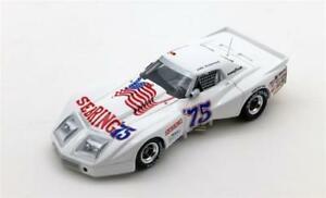 【送料無料】模型車 スポーツカー セブリングスケールシボレーコルベットグリーンウッドchevrolet corvette greenwood spirit of sebring 1975 true scale 143 tsm114330 mo
