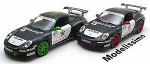 【送料無料】模型車 スポーツカー ポルシェグアテマラ#ダブルセット118 norev porsche double set with 2 911 997 ii gt3 rs 176 177