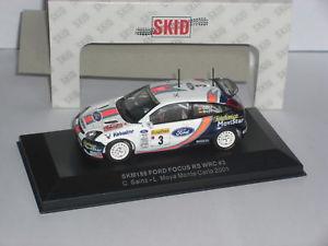 【送料無料】模型車 スポーツカー スキッドフォードフォーカス#モンテカルロskid ford focus rs wrc3 2001 monte carlo 143