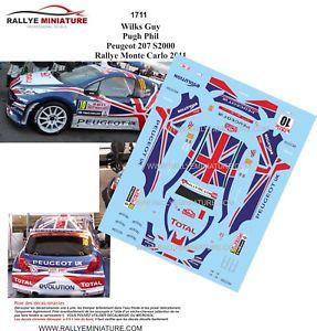 【送料無料】模型車 スポーツカー ディーキャル1241711 peugeot207s2000 rallyeモンテcarlo wilks 2011ircdecals 124 ref 1711 peugeot 207 s2000 rallye monte carlo wilks 2