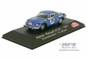 【送料無料】模型車 スポーツカー アルプスルノーa110モンテカルロラリー1971 oveアンダースソーン143alpine renault a110 monte carlo rally 1971 ove andersson 143 atlas collections