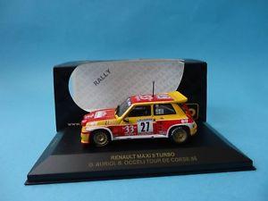 【送料無料】模型車 スポーツカー ルノーマキシターボ#エクスポートツアーコルシカラリーネットワークrenault 5 maxi turbo 27 33 export auriol tour corse rally 1985 143 ixo rac003
