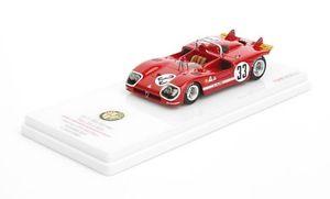 【送料無料】模型車 スポーツカー アルファロメオ#セブリングロルフモデルalfa romeo type 333 33 12h sebring 1971 2nd place rolf stommelen 143 model
