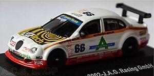 【送料無料】模型車 スポーツカー ジャガータイプナイテック#レーシングチームjaguar stype nitec v8 stelle 2002 66 s bert j a g racing team 187