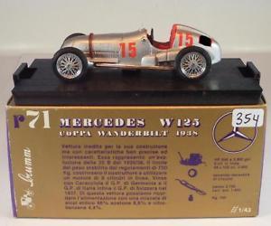 【送料無料】模型車 スポーツカー brumm 143メルセデスシルバーアローw125coppa wanderbilt1938bnib354brumm 143 mercedes silver arrow w 125 coppa wanderbilt 1938 bnib 354