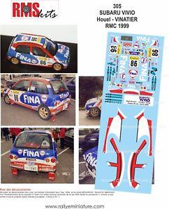 【送料無料】模型車 スポーツカー デカールモンテカルロラリーラリーdecals 118 ref 0305 subaru vivio houel rallye monte carlo 1999 rally wrc