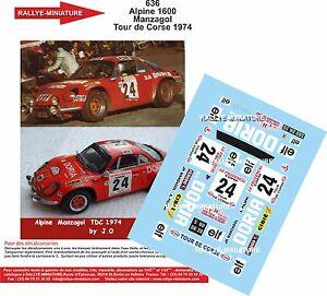 【送料無料】模型車 スポーツカー デカールアルパインルノーツールドコルスラリーdecals 118 ref 636 alpine renault a110 rallye manzagol tour de corse 1974 rally