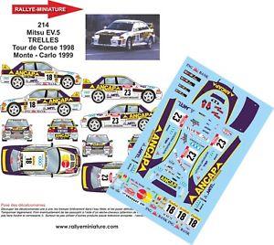 【送料無料】模型車 スポーツカー デカールランサービームツールドコルスラリーdecals 118 ref 0214 mitsubishi lancer beams tour de corse 1998 rally wrc