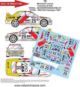 【送料無料】模型車 スポーツカー デカールランサーモンテカルロラリーラリーdecals 118 ref 76 mitsubishi lancer stohl rallye monte carlo 1997 rally wrc