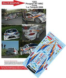 【送料無料】模型車 スポーツカー デカールプジョーデュトゥケラリーdecals 118 ref 1203 peugeot 307 wrc cuoq rallye du touquet 2006 rally