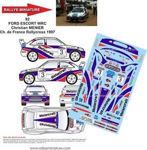 【送料無料】模型車 スポーツカー デカールフォードエスコートコスワースラリーdecals 118 ref 0092 ford escort cosworth wrc menier rallycross 1997 rally wrx