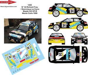 【送料無料】模型車 スポーツカー デカールマツダモンテカルロラリーラリーdecals 118 ref 1450 mazda 323 frau rallye monte carlo 1999 rally wrc