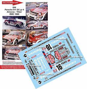【送料無料】模型車 スポーツカー デカールポルシェラリーモンテカルロラリーdecals 118 ref 0644 porsche 911 almeras rally monte carlo 1980 rally wrc