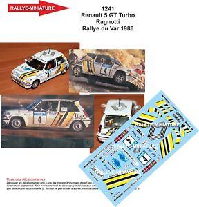 【送料無料】模型車 スポーツカー デカールルノーターボジャンラリーdecals 118 ref 1241 renault 5 gt turbo jean ragnotti rallye du var 1988 rally
