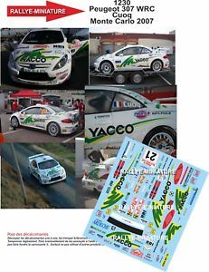 【送料無料】模型車 スポーツカー ディーキャル1181230 peugeot307wrc cuoq rallyeモンテcarlo2007decals 118 ref 1230 peugeot 307 wrc cuoq rallye monte carlo 2007 rally