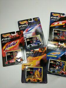 【送料無料】模型車 スポーツカー 5ホットホイールズレーシングnascar 1997ロットhot wheels pro racing nascar 1997 lot of 5
