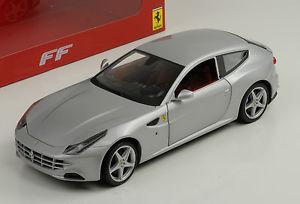 【送料無料】模型車 スポーツカー フェラーリシルバーホットホイールferrari ff 2010 silver hot wheels 118