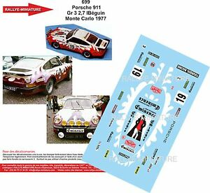 【送料無料】模型車 スポーツカー デカールポルシェラリーモンテカルロラリーdecals 118 ref 699 porsche 911 beguin rally monte carlo 1977 rally wrc