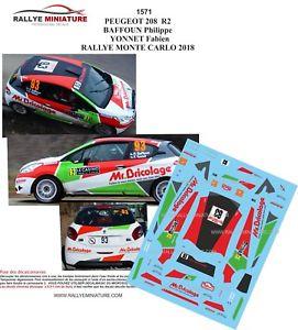 【送料無料】模型車 スポーツカー ディーキャル1181571 peugeot208r2 baffoun rallyeモンテcarlo2018decals 118 ref 1571 peugeot 208 r2 baffoun rallye monte carlo 2018 ra