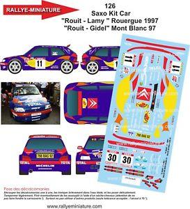 【送料無料】模型車 スポーツカー ディーキャル1180126 citroen saxoキットrouit rallye du mont blanc1997decals 118 ref 0126 citroen saxo kit car rouit rallye du mont b