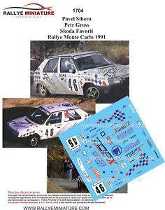 【送料無料】模型車 スポーツカー ディーキャル1181704 skoda favorit siberaモンテcarlo 1991wrcdecals 118 ref 1704 skoda favorit sibera rally monte carlo 1991 rally wr