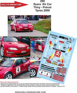 【送料無料】模型車 スポーツカー ディーキャル118295 citroen xsaraキットbruno thiry ypres2000decals 118 ref 295 citroen xsara kit car bruno thiry ypres rally 2000 ra