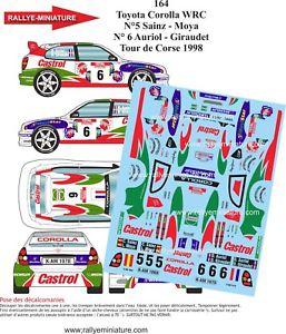【送料無料】模型車 スポーツカー デカールトヨタカローラオリオールレーシングdecals 118 ref 164 toyota corolla auriol wrc racing circumference