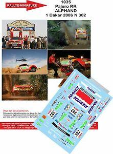 【送料無料】模型車 スポーツカー デカールパジェロダカールラリーラリーパリdecals 118 ref 1035 mitsubishi pajero rally paris dakar lm 2006 rally