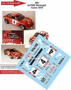 【送料無料】模型車 スポーツカー デカールアルパインルノーツールドコルスラリーラリーdecals 118 ref 800 alpine renault a110 manzagol tour de corse 1978 rally rally