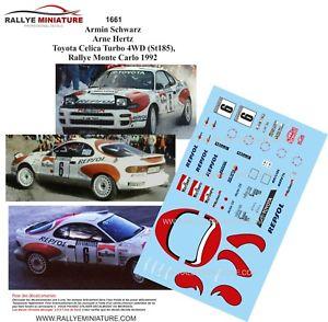 【送料無料】模型車 スポーツカー ディーキャル1181661 toyota celica armin schwarzrallyeモンテcarlo 1992decals 118 ref 1661 toyota celica armin schwarz rallye monte c