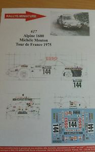 【送料無料】模型車 スポーツカー renault a110de france1975ディーキャル118617decals 118 ref 617 alpine renault a110 tour de france sheep 1975 rally rally