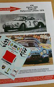 【送料無料】模型車 スポーツカー ディーキャル118438renault a110 ragnottiラリークロス1976decals 118 ref 438 alpine renault a110 ragnotti rallycross 1976