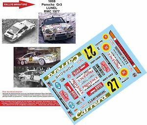 【送料無料】模型車 スポーツカー デカールポルシェリュネルモンテカルロラリーラリーdecals 118 ref 1008 porsche 911 lunel rallye monte carlo 1977 rally wrc