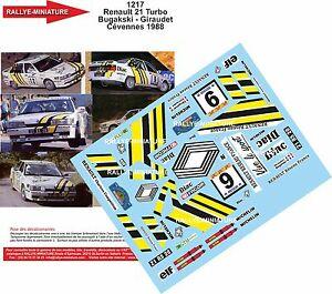 【送料無料】模型車 スポーツカー デカールルノーターボドdecals 118 ref 1217 renault 21 turbo bugalski critrium de cevennes 1988
