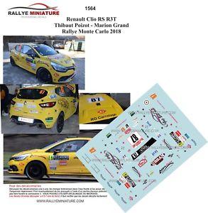 【送料無料】模型車 スポーツカー デカールルノークリオモンテカルロラリーdecals 118 ref 1564 renault clio r3t poizot rallye monte carlo wrc 2018