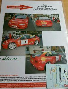 【送料無料】模型車 スポーツカー デカールシトロエンクサラキットフランスラリーdecals 118 ref 540 citroen xsara kit car cuoq rally heart of france